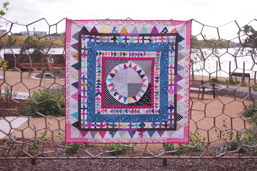 The Modern Medallion quilt