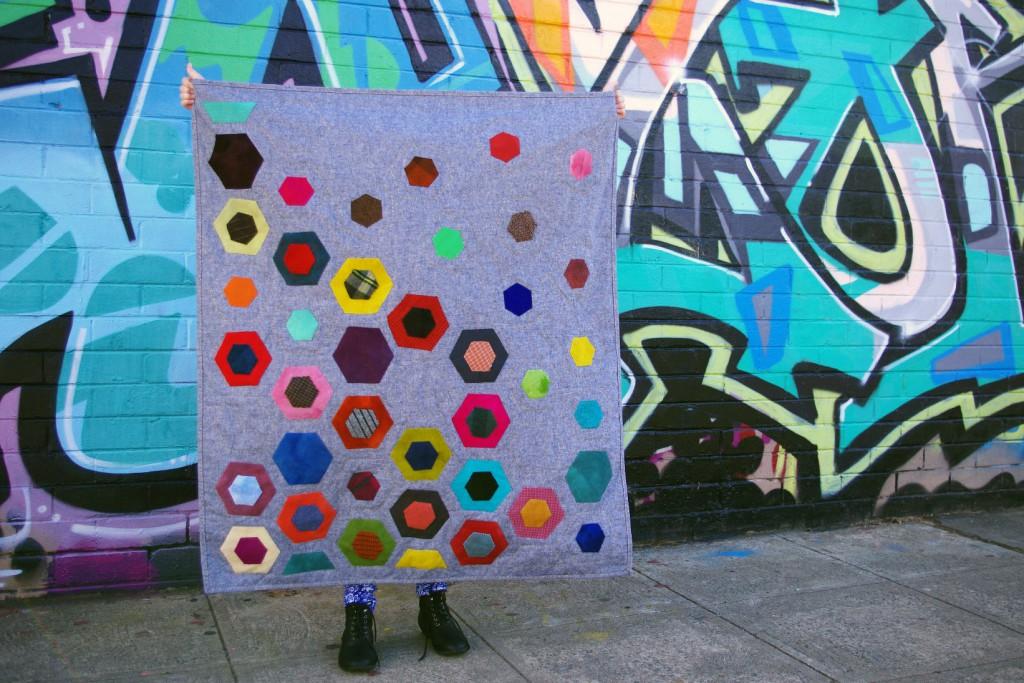 Introducing the Modern Hexagon quilt