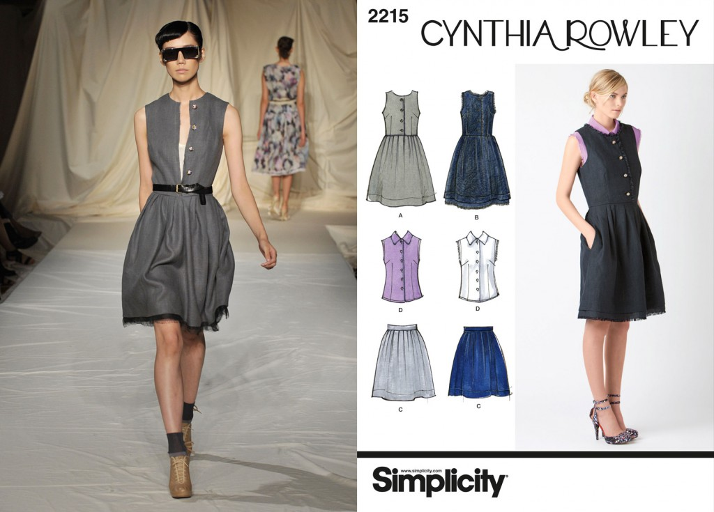 Simplicity adapted dress pattern 2215 from Cynthia Rowleys' Spring 2010 range