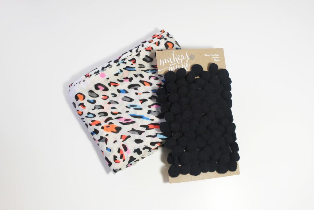 Leopard print + pom-poms