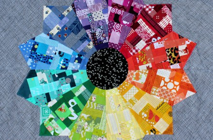 Colour wheel quilt 01