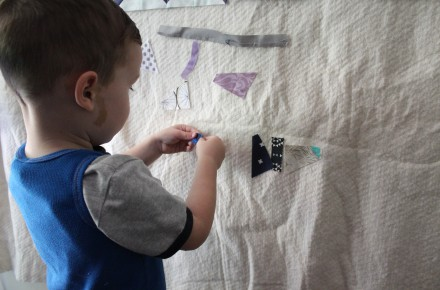 Keeping the kids busy when you are busy sewing