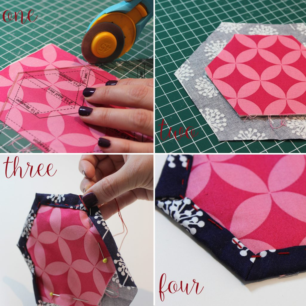 quilt as you go hexagon tutorial